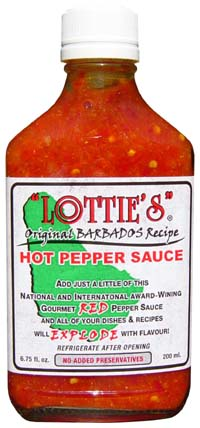 Lottie's Hot Pepper Sauce- Red