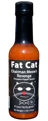 Fat Cat Chairman Meow's Revenge Scorpion Pepper Sauce
