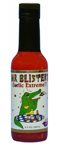 Mr. Blister Garlic Extreme Hot Sauce
