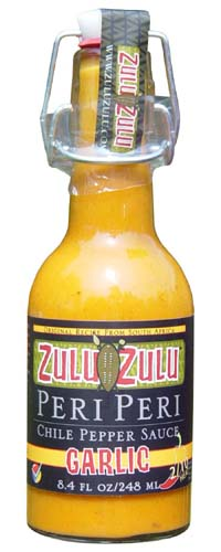 Zulu Zulu Peri Peri Garlic Chile Pepper Sauce
