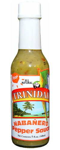 Trinidad Hot Habanero Pepper Sauce
