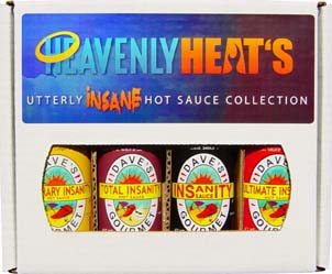 Heavenly Heat's Utterly Insane Hot Sauce Collection